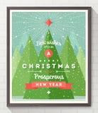 Kerstmistype ontwerpaffiche Stock Foto's