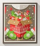 Kerstmistype ontwerpaffiche Royalty-vrije Stock Afbeeldingen