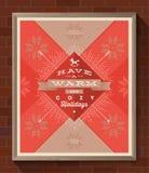 Kerstmistype ontwerpaffiche Royalty-vrije Stock Afbeelding