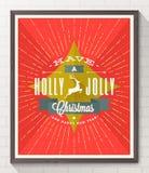 Kerstmistype ontwerpaffiche Stock Foto