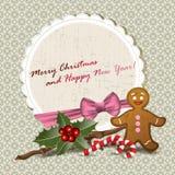 Kerstmisuitnodiging Royalty-vrije Stock Afbeeldingen