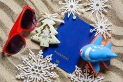 Kerstmisvakantie bij de vakantietoevlucht Nieuwjaar` s Vooravond royalty-vrije stock foto's