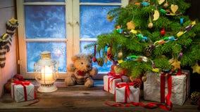 Kerstmisvakantie in het platteland Royalty-vrije Stock Fotografie