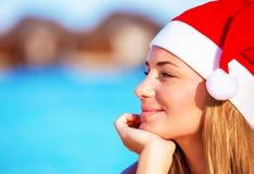 Kerstmisvakantie op de Maldiven Stock Foto
