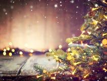 Kerstmisvakantie vage achtergrond royalty-vrije stock fotografie
