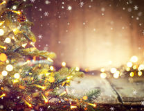 Kerstmisvakantie vage achtergrond met Kerstboom royalty-vrije stock foto