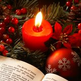 Kerstmisverhaal Stock Afbeelding