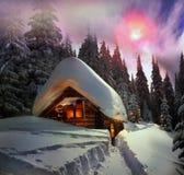 Kerstmisverhaal voor klimmers Stock Afbeeldingen