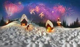 Kerstmisverhaal voor klimmers Stock Fotografie