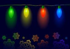 Kerstmisverlichting Royalty-vrije Illustratie
