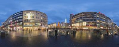 Kerstmisverlichting in Hanover Stock Foto's