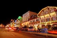 Kerstmisverlichting in Leavenworth 6 royalty-vrije stock foto