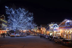 Kerstmisverlichting in Leavenworth 16 royalty-vrije stock afbeeldingen