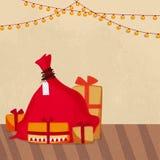 Kerstmisviering met giften Royalty-vrije Stock Foto