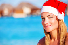 Kerstmisviering op de Maldiven Stock Afbeeldingen