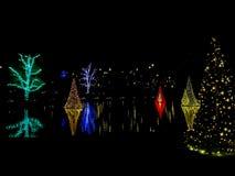 Kerstmisviering van Longwoodtuinen royalty-vrije stock fotografie