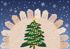 Kerstmisvierkant Royalty-vrije Stock Afbeeldingen
