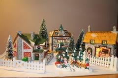 Kerstmisvilliage Stock Afbeeldingen
