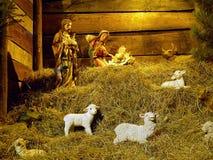 Kerstmisvoederbak Royalty-vrije Stock Foto