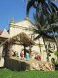 Kerstmisvoederbak bij het strand van Beruwala/Sri Lanka stock afbeeldingen