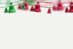 Kerstmisvoorwerp, klokken op witte achtergrond Stock Foto's
