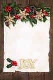Kerstmisvreugde Stock Afbeeldingen