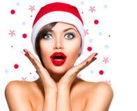Kerstmisvrouw Stock Foto