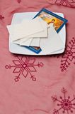Kerstmiswafeltje royalty-vrije stock fotografie