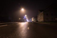 Kerstmisweg van de nachtstad Stock Afbeelding