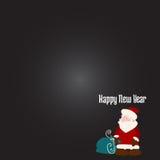 Kerstmiswens met Santa Claus Royalty-vrije Stock Fotografie