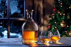 Kerstmiswhisky Stock Afbeeldingen