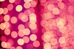 Kerstmiswijnoogst bokeh Stock Fotografie