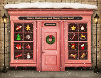 Kerstmiswinkel royalty-vrije stock fotografie