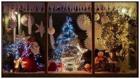Kerstmiswinkel Stock Foto's