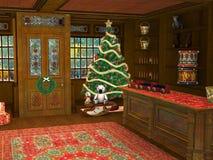 Kerstmiswinkel Toy Store Illustration Royalty-vrije Stock Afbeeldingen