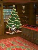 Kerstmiswinkel Toy Store Illustration Stock Afbeeldingen