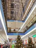 Kerstmiswinkelcomplex Royalty-vrije Stock Fotografie