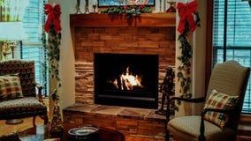 Kerstmiswoonkamer stock footage
