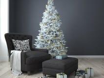 Kerstmiswoonkamer het 3d teruggeven Stock Fotografie