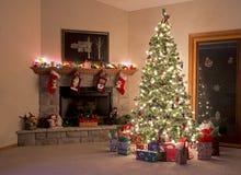 Kerstmiszaal Stock Fotografie
