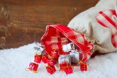 Kerstmiszak Stock Afbeelding