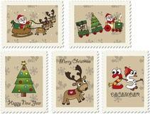 Kerstmiszegels Royalty-vrije Stock Foto's