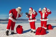 Kerstmiszitting Royalty-vrije Stock Afbeeldingen