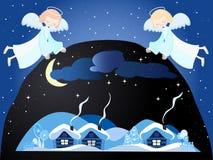 Kerstnacht vector illustratie