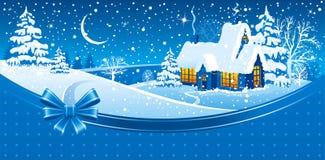 Kerstnacht Stock Foto
