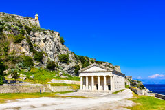Kerykra παλαιό Phanteon Σημαντικό τουριστικό αξιοθέατο στην Κέρκυρα στοκ φωτογραφία με δικαίωμα ελεύθερης χρήσης