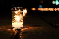 Kerze auf der Straße Lizenzfreie Stockfotos