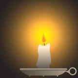 Kerze auf Halter Lizenzfreie Stockbilder