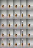 Kerze Burning lizenzfreie stockbilder