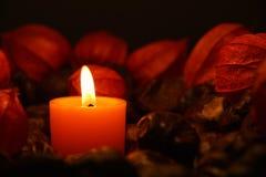 Kerze Burning Stockfotografie